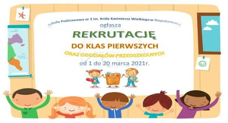 Rekrutacja na rok szkolny 2021/2022
