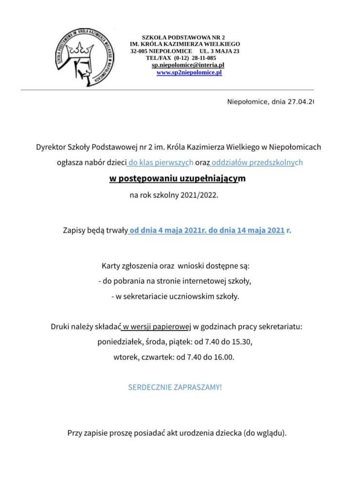 ogłoszenie - rekrutacja uzupełniająca-pdf