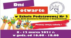 Dni otwarte 8 – 12 marca 2021 r.