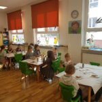 Wielkanocne śniadanko w oddziałach przedszkolnych.