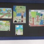Praca nagrodzona w konkursie plastycznym Mieszkańccy lasu